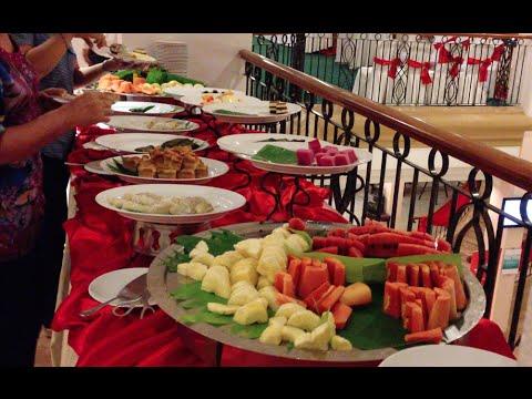 Buffet dinner at Sunway Hotel in Phnom Penh city of Cambodia
