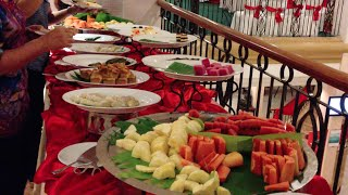 Buffet dinner at Sunway Hotel in Phnom Penh city of Cambodia