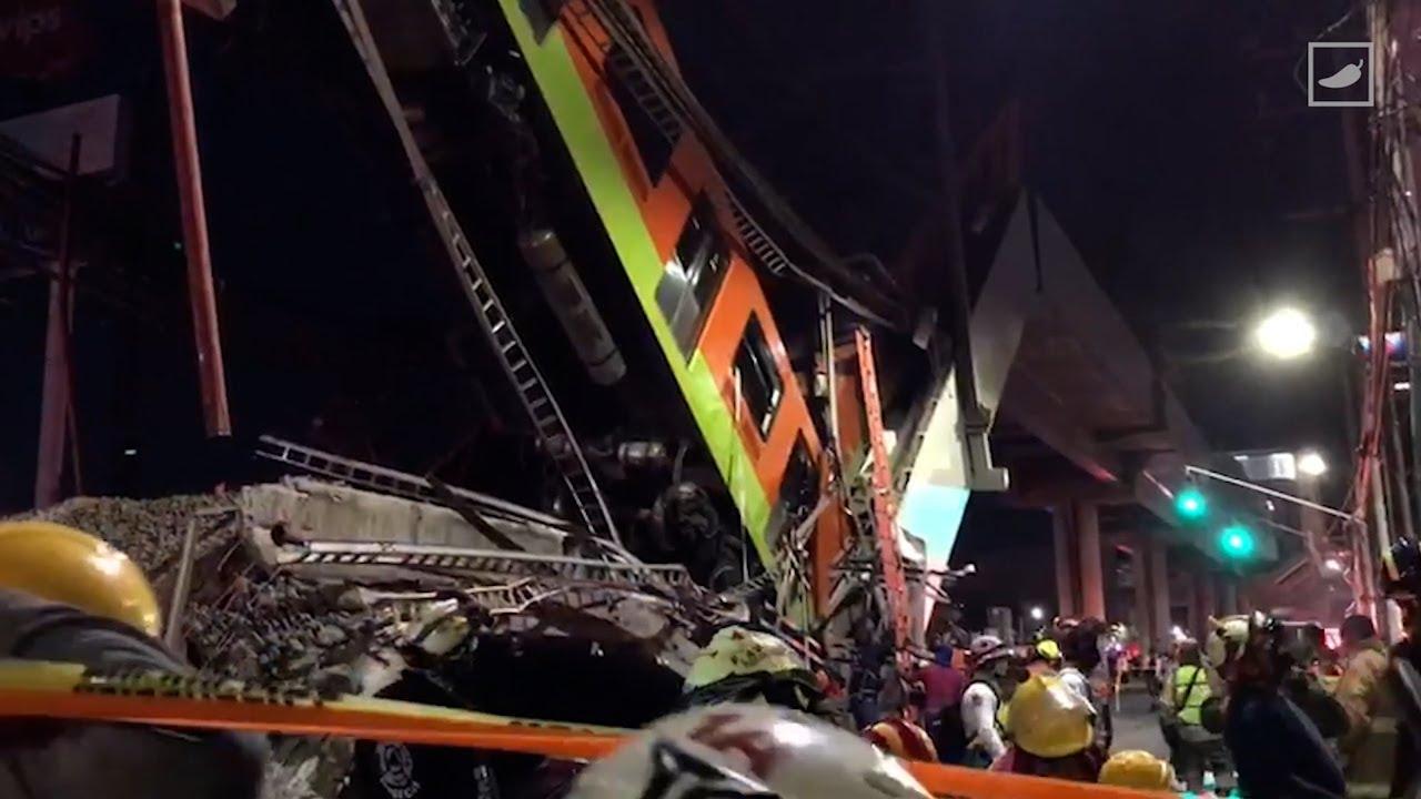 Así fue el derrumbe en la Línea 12 del Metro de México