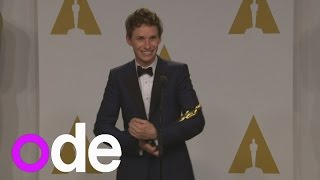 Oscars: Eddie Redmayne Cradles And Rocks Figurine Like A Baby In Winners' Room!