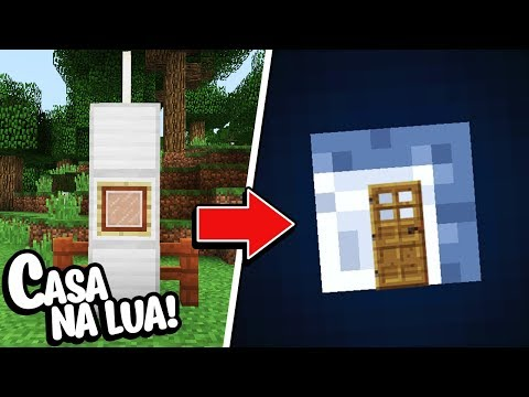 Minecraft: COMO MORAR DENTRO DA LUA NO MINECRAFT!!!