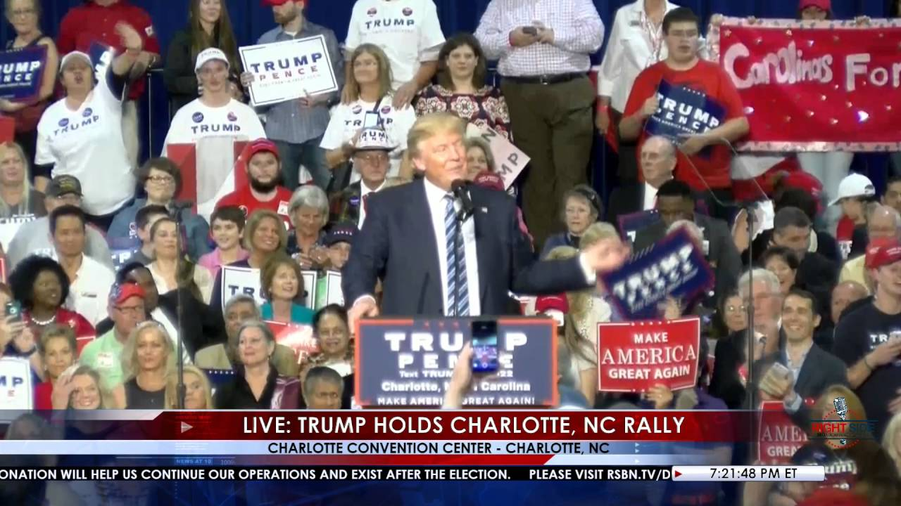 Full Speech Donald Trump Rally In Charlotte Nc 10 14 16 Rsb Cameras Youtube