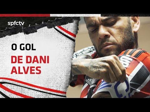 GOL DE DANI ALVES: SANTOS 1x1 SÃO PAULO | SPFCTV