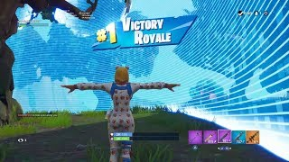 "FORTNITE First Win with ""ONESIE"" SKIN (""DURRR BURGER"" OUTFIT) 
