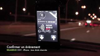 EKLAIREUR - Avertisseur Radars iPhone 3G / 3GS Android