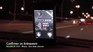 EKLAIREUR - Avertisseur Radars iPhone 3G / 3GS Android