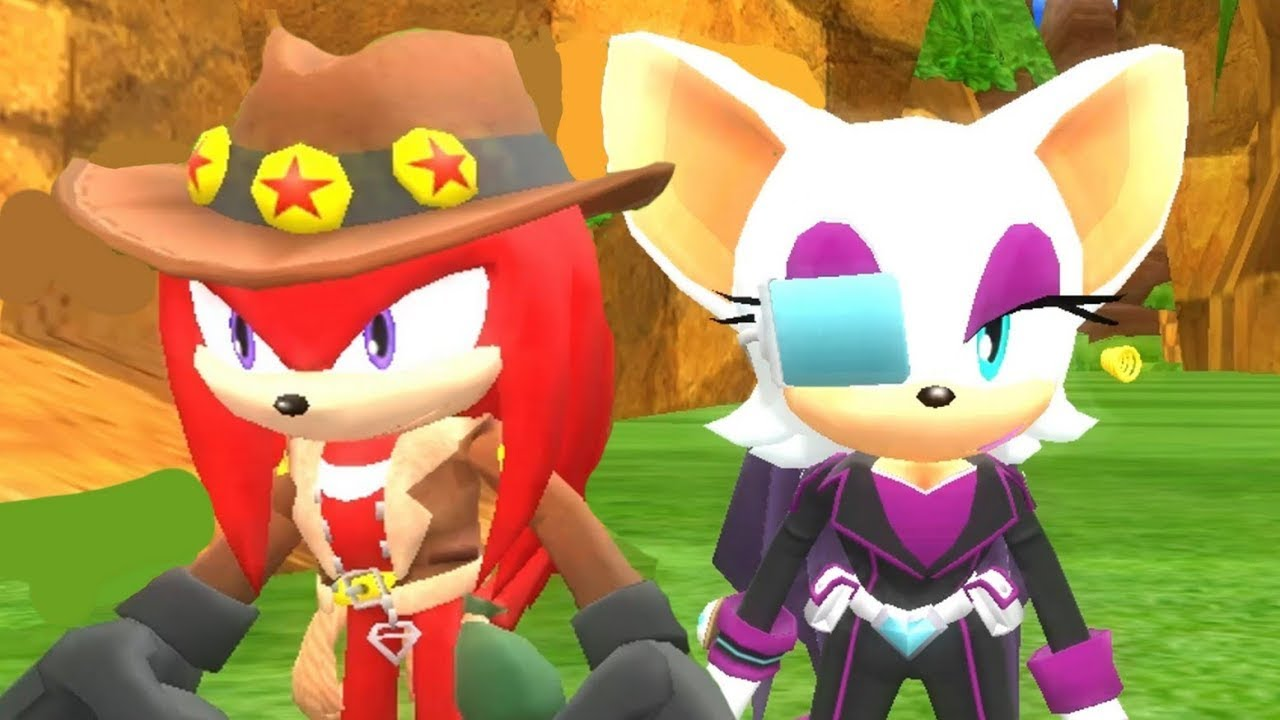 Treasure Hunter Knuckles & Elite Agent Rouge in Sonic World