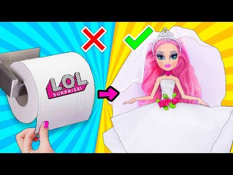 12 Супер Простых ЛАЙФХАКОВ и поделок для Свадьбы КУКЛЫ ЛОЛ Сюрприз! Мультик LOL Surprise toy HACKS