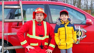 Jason calls firefighter for help in pretend adventure