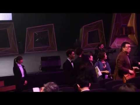 150325 Asian Film Awards Kyungsoo entering theater