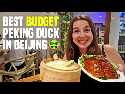 Eating Peking Duck in Beijing & Cycling to Tiananmen Square | China Travel