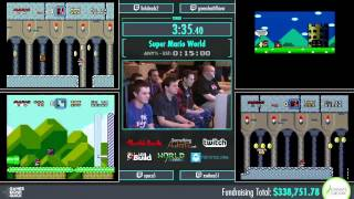 Awesome Games Done Quick 2015 - Part 75 - Super Mario World by Various Runners