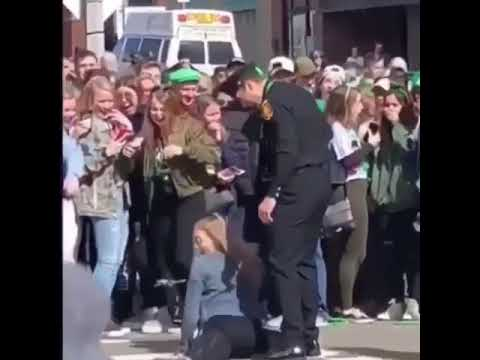 Crystal Rosas - Chick Twerks on Officer at St. Patrick's Day Parade