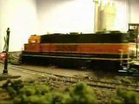 HO Scale Train Crash