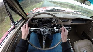 1964 1/2 Ford Mustang 289 V8 Coupe - POV TEST Drive | RARE Mustang