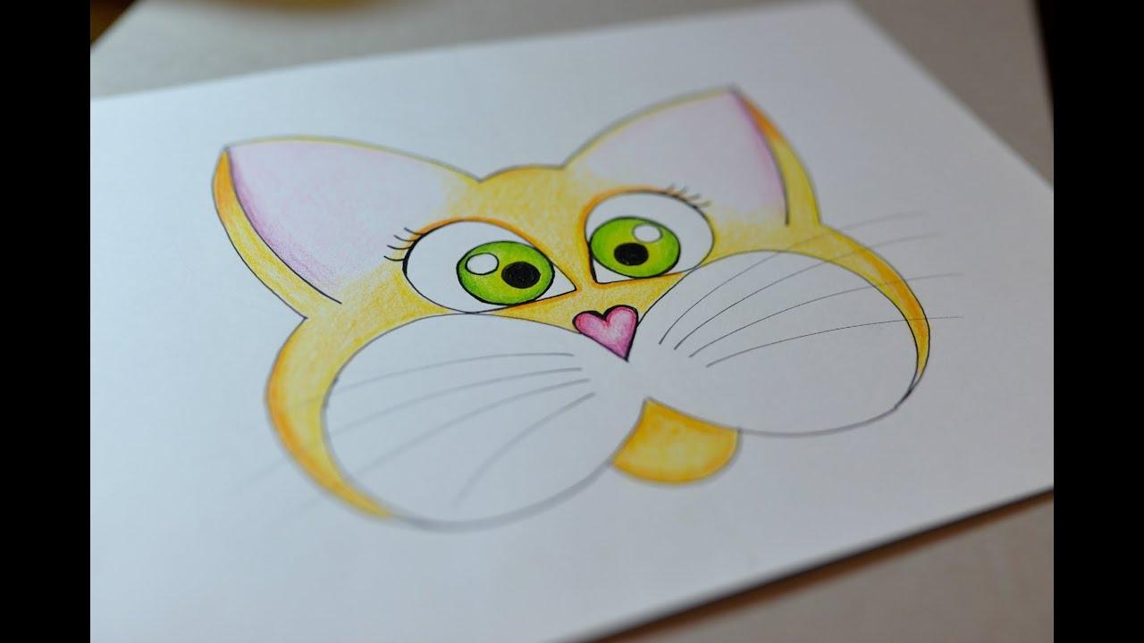 Jak narysować bajkowego kotka - krok po kroku