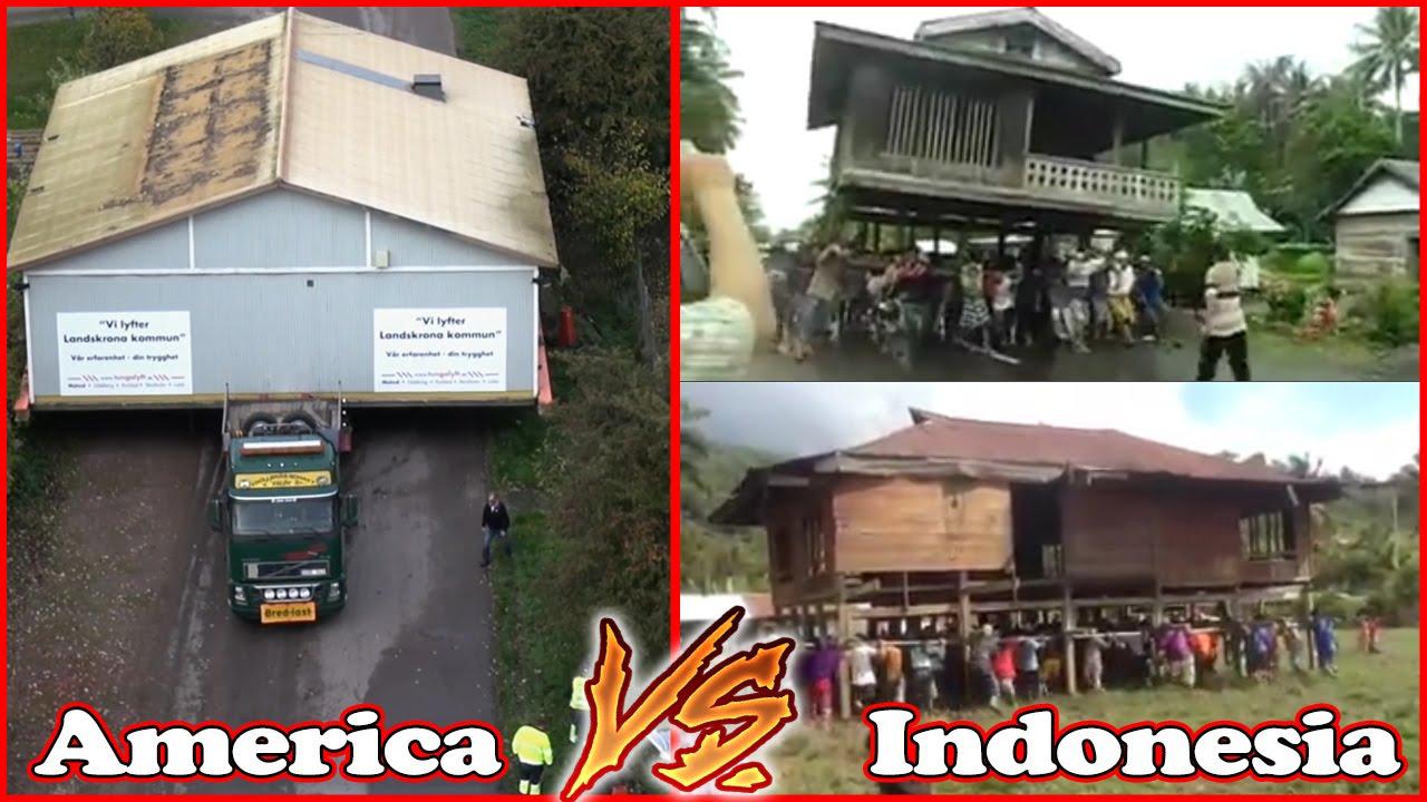 House Moving America Vs Indonesia ☺  YouTube