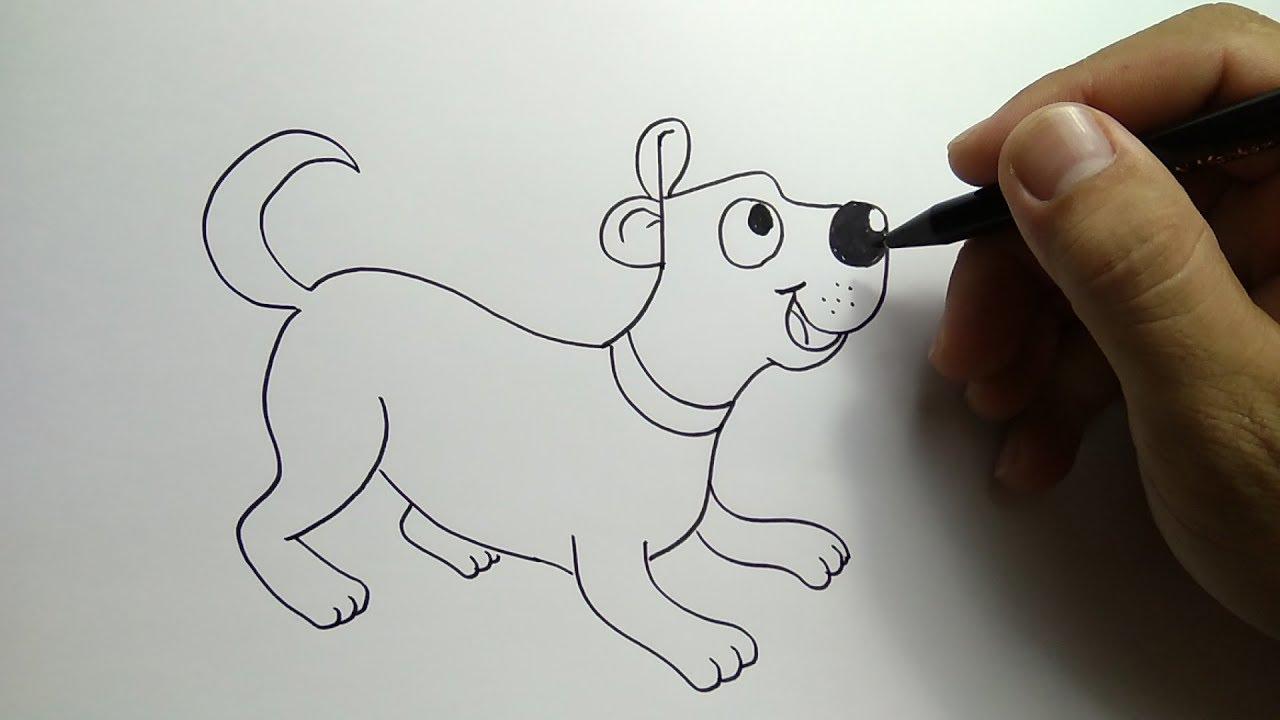 Cara Menggambar Anjing Dengan Huruf DOG