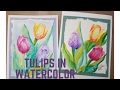 Tulips In Watercolor Greeting Card