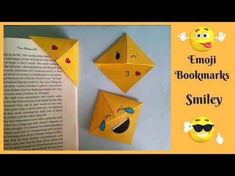 Emoji Corner Bookmarks | How to make smiley bookmarks | DIY | Paper Craft