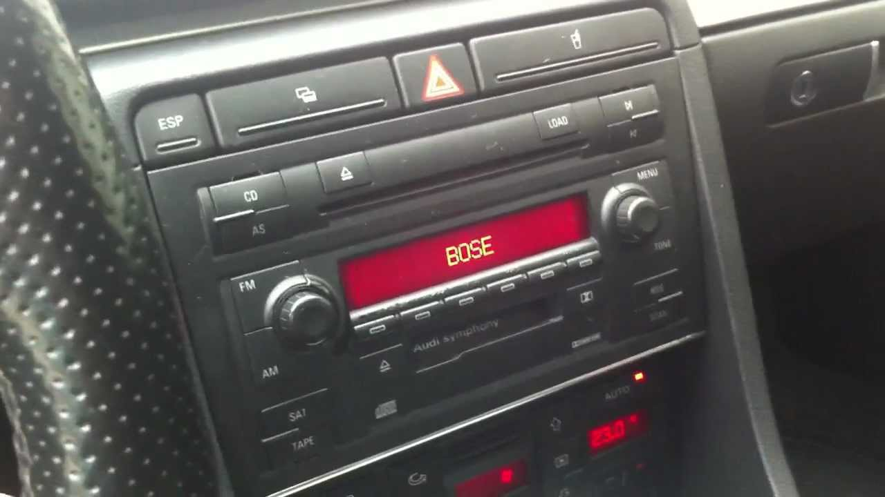 Audi Symphony 2 Whith Bose System A4 B6 Youtube