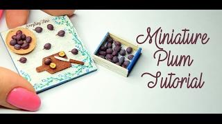 Miniature Plum Tutorial-Polymer Clay