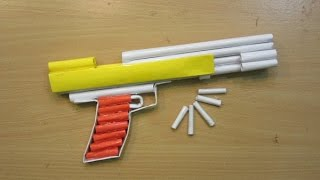 How to Make a Paper Airsoft Gun - ( Paper Pistol / Desert Eagle ) - Easy paper Gun  Tutorials