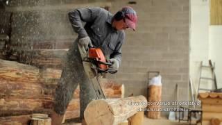 Рекламны ролик по строительству домов из срубов