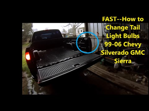 FAST--How to Change Truck Tail Light Bulbs 99-06 2001 ...