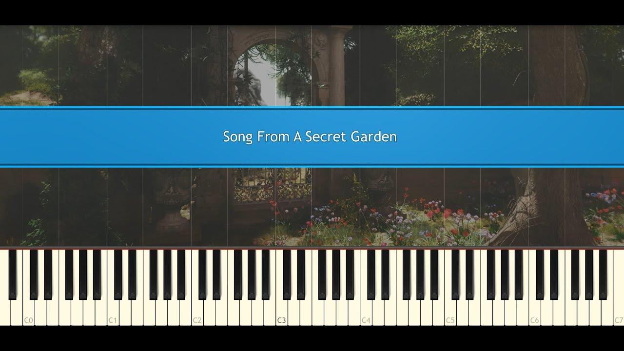 Song from a secret garden - Rolf Lovland (Piano Tutorial)