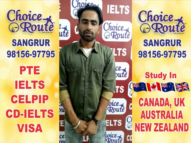 Congratulations SAKATTAR SINGH- Choice Route is the Best PTE and IELTS institute in Sangrur City.