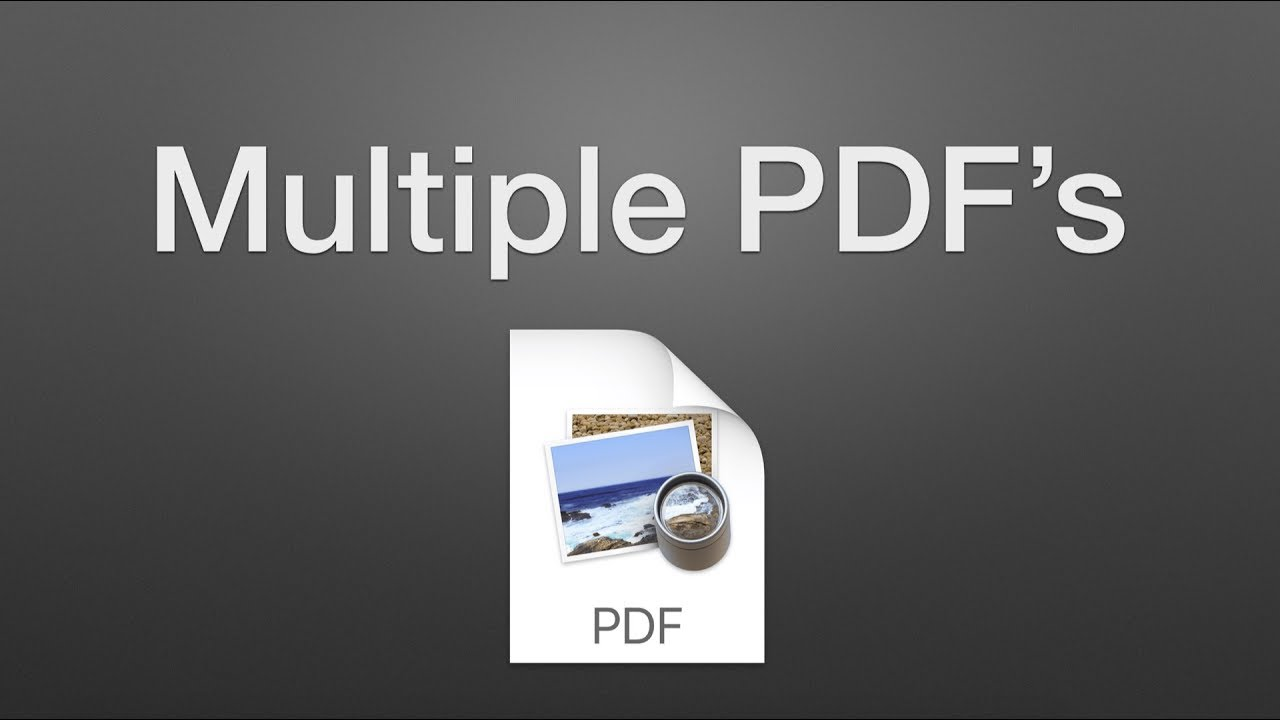 how to join pdf into one pdf on mac