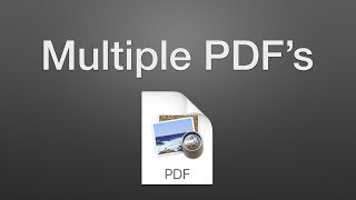 How to Combine Multiple PDF's into One on a Mac