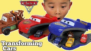 TRANSFORMING Disney Cars 3 Fabulous Lightning McQueen & Mater Toy Box Surprise With CKN Toys thumbnail
