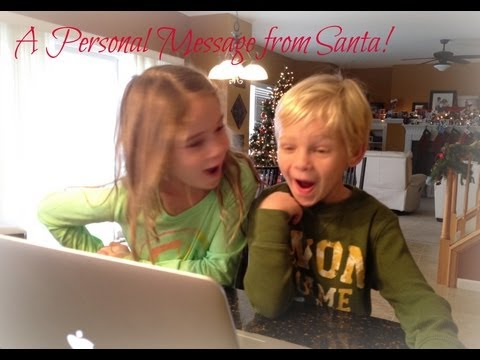A Personalized Video Message From Santa To My Kids