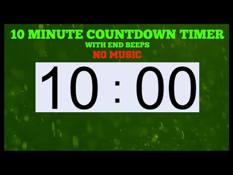 10 minute timer with end beeps no music youtube