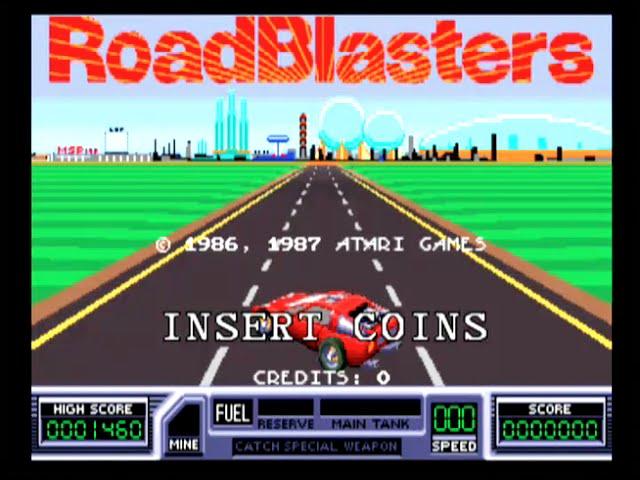 RoadBlasters - Arcade Gameplay - Atari 1987
