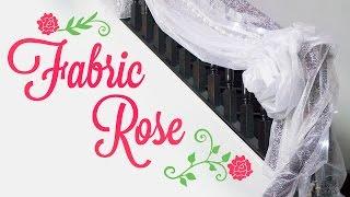 Easy Fabric Rose for Wedding Decorations | BalsaCircle.com