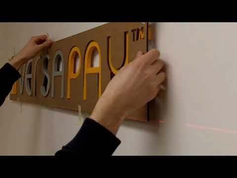 Art Signs for VersaPay - 3D Office Lobby Signage Lettering Installation