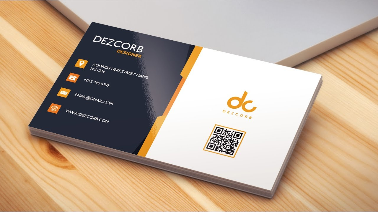 2 How To Design A Business Card In Photoshop Cs6 Back