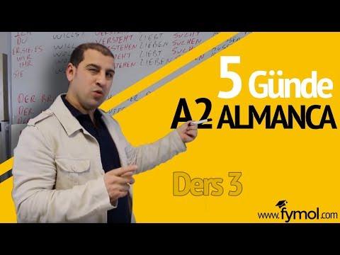 5 Günde A2 Almanca Öğreniyorum Ders  3 - Online Almanca Kursu