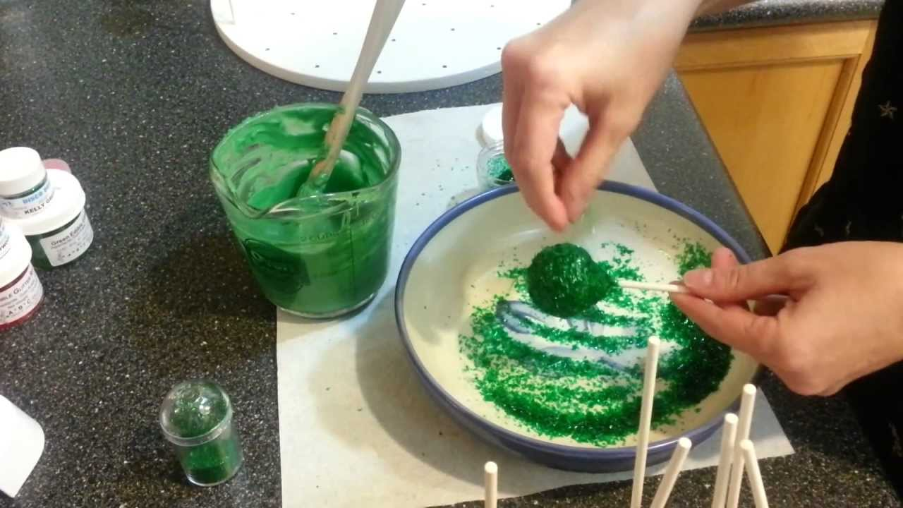 How To Make Glitter Cake Pops Youtube
