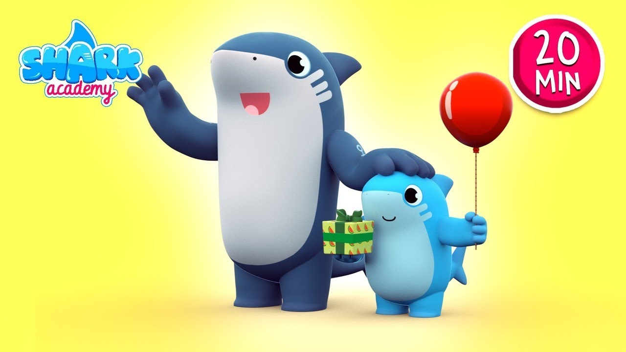 Shark Academy - Whale-T SHARK's Birthday - Baby Shark Nursery Rhymes for Children