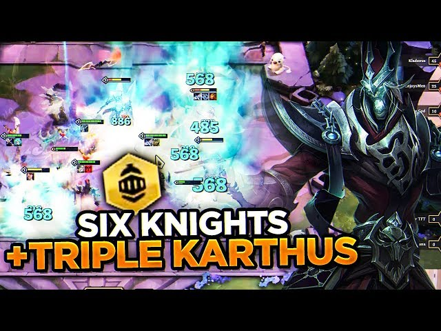 TRIPLE KARTHUS HYPER CARRY COMP WITH SIX KNIGHTS | Teamfight Tactics