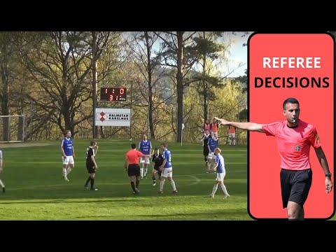 Referee decisions: Kvibille vs Hyltebruk - Division 4