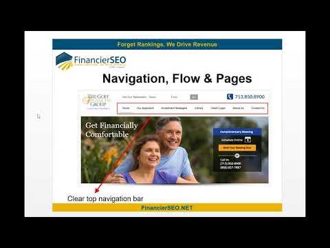 Financial Services Website Design   Building out Your Website   Financier SEO