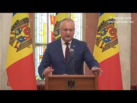 Declarațiile Președintelui Republicii Moldova, Igor Dodon, după ședința Consiliul Suprem de Securita