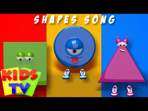 Thumbnail: Kids TV Nursery Rhymes - Shapes Song | Shapes | 3d Shapes Song