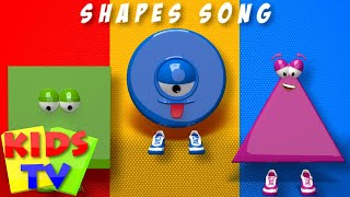 shapes song | we are shapes | 3d shapes | kids tv learning videos thumbnail