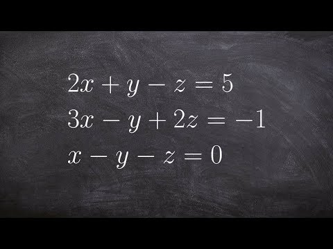 How To Solve A System Of Equations With Three Variables